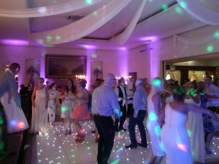crowd shot, the wedding disco, starlite dance floor, dunadry hotel up lights pink - 2013-06-09 00.15.56
