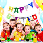 kids party group-laughing-kids-having-fun-birthday-party-isolated-white-44459184