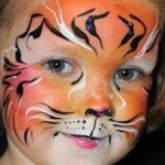 tiger face painters kids party
